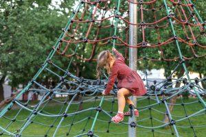 Engineer career development as a rope net playground